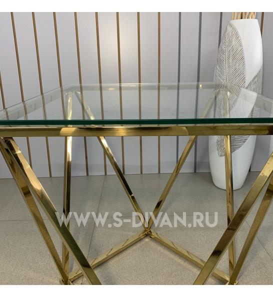 Консольный столик, основание хром золото