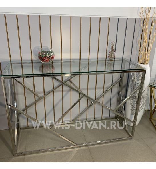 Консольный столик, основание серебро